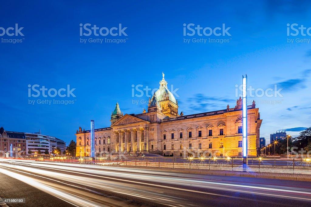 City of Leipzig Germany stock photo