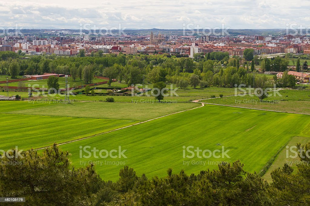 City of Leon in Spain - Ciudad de Leon  Espa?a stock photo