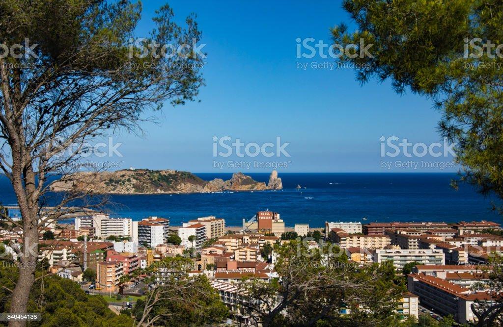 City of l'Estartit on the Costa Brava stock photo