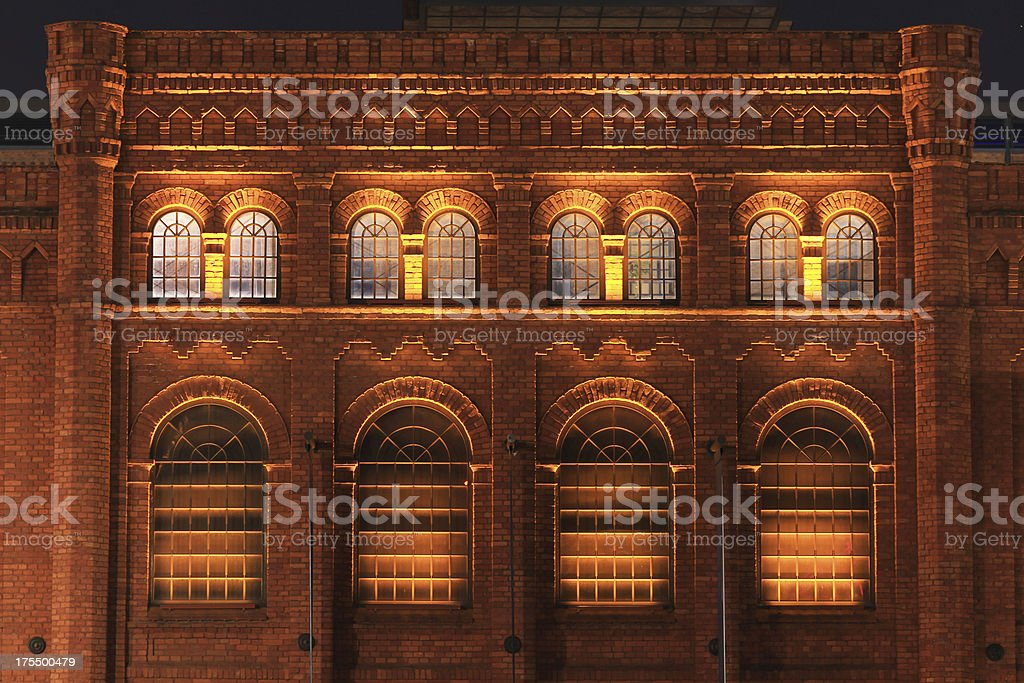 City of Lodz at night stock photo