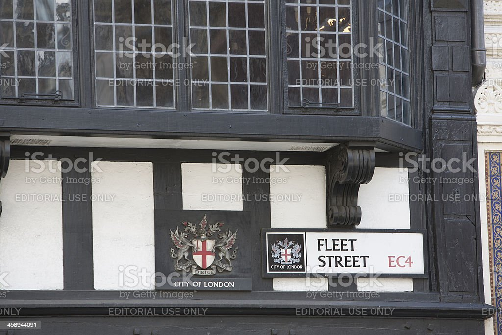 City of London and Fleet Street Signs stock photo