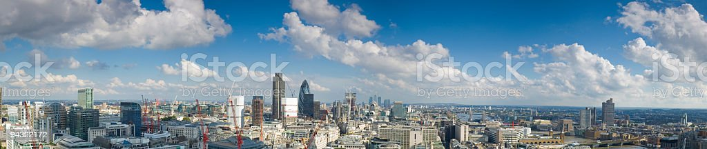 City of London and River Thames royalty-free stock photo