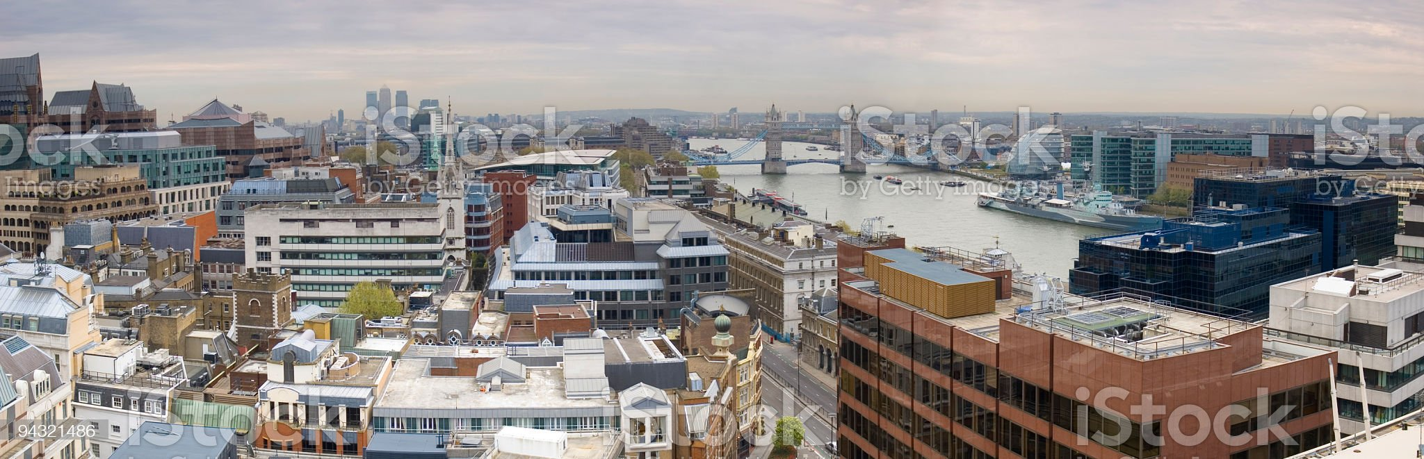 City of London and Tower Bridge royalty-free stock photo