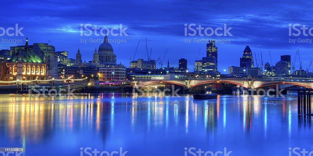City of London at dawn royalty-free stock photo