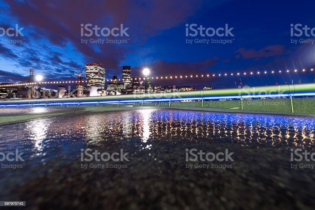 City Of London at night stock photo
