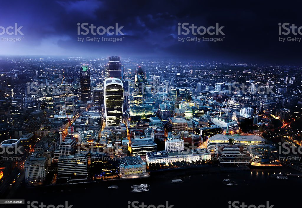 City of London At Sunset stock photo
