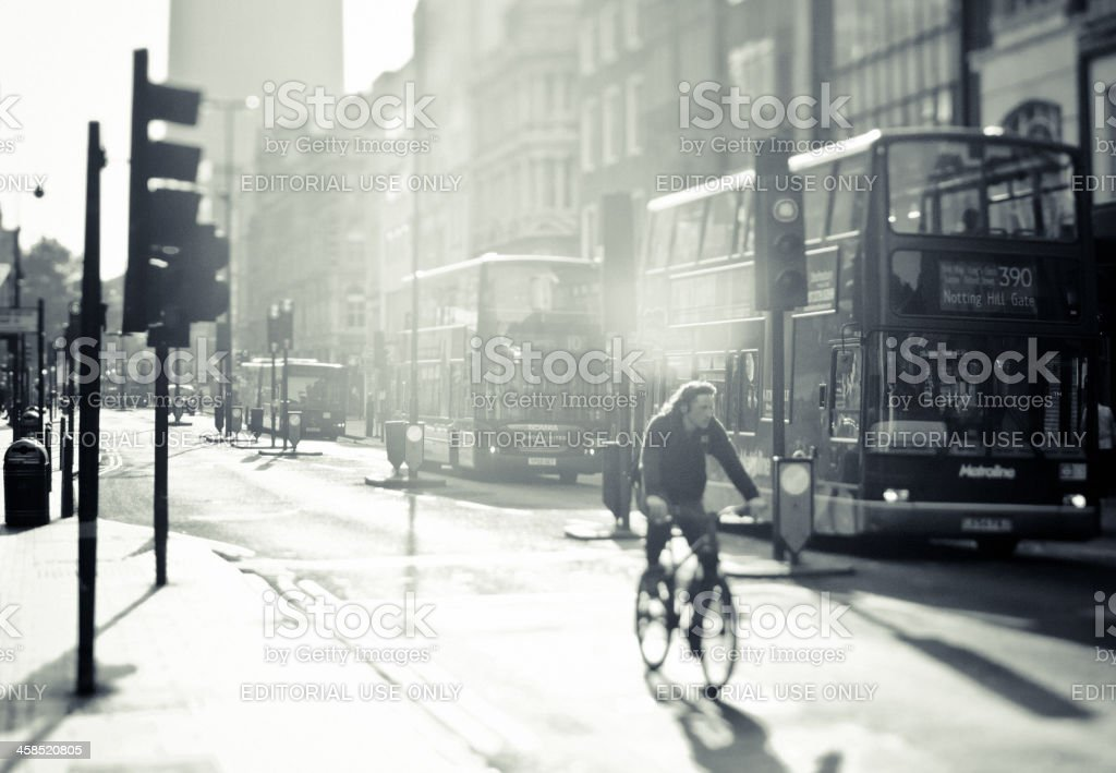 City of London, Early Morning in Oxford Street stock photo