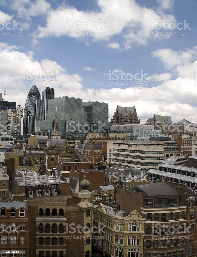 City of London, financial district royalty-free stock photo