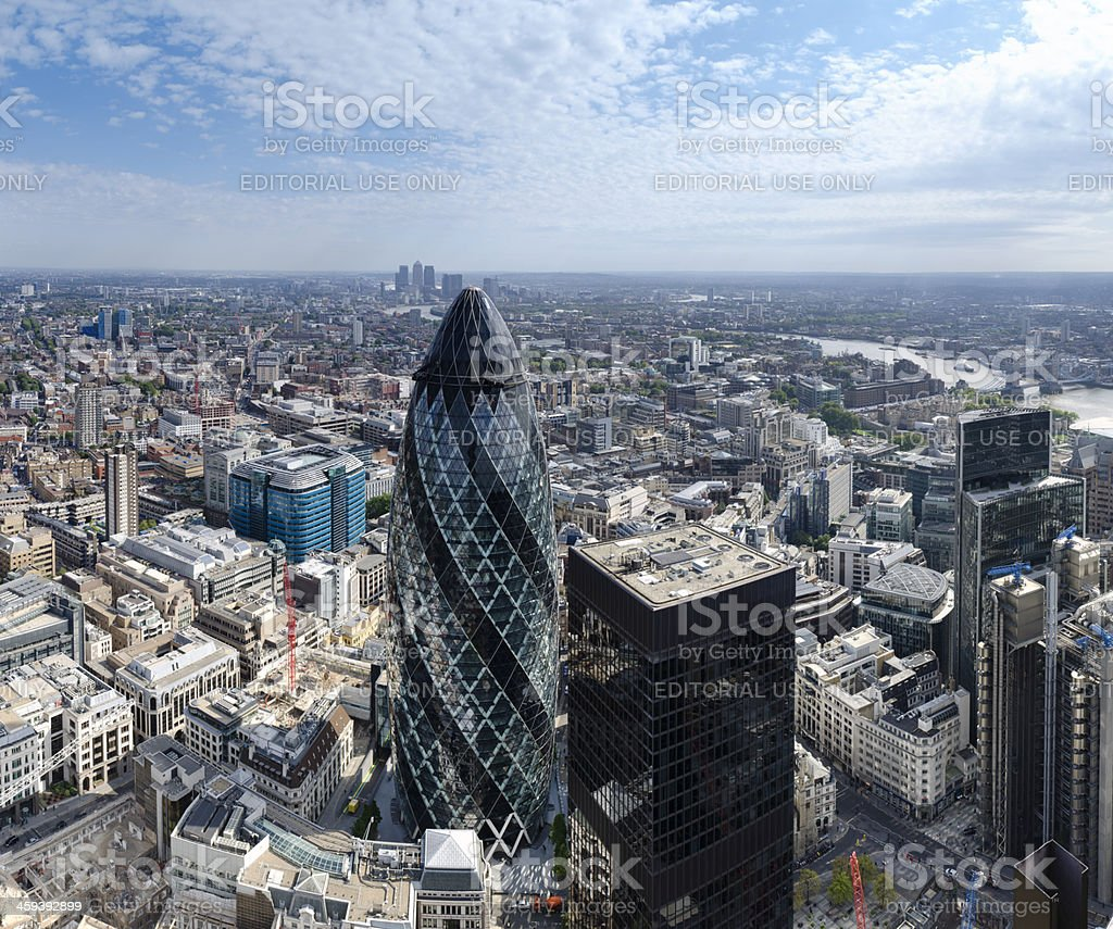 City of London financial district skyscrapers royalty-free stock photo