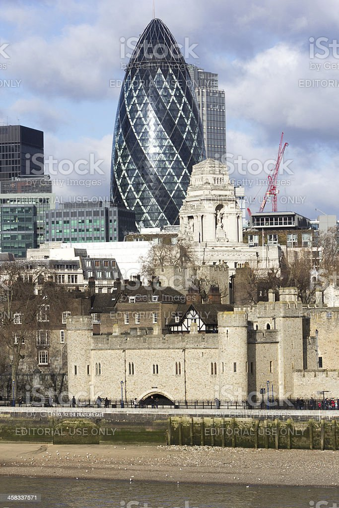 City of London in England, UK royalty-free stock photo