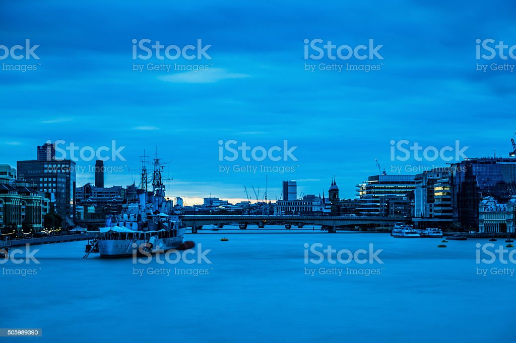 City of London in London stock photo