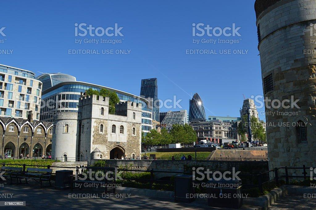 city of london in uk foto de stock libre de derechos