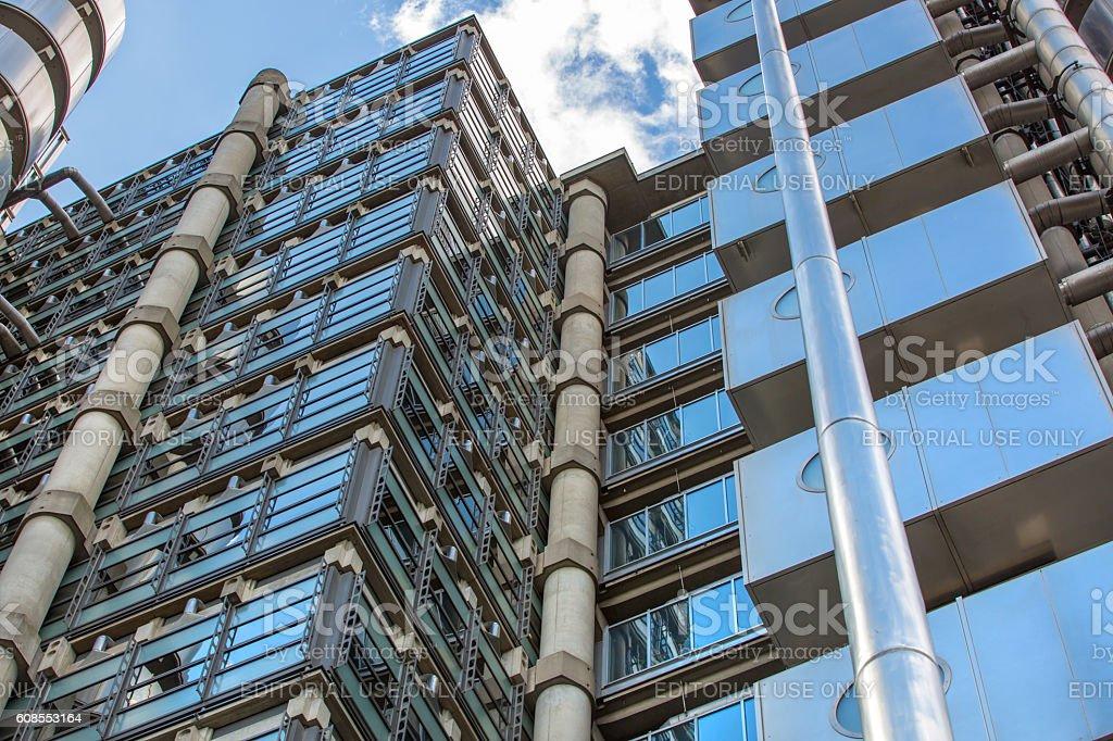 City of London, Lloyds bank skyscraper stock photo