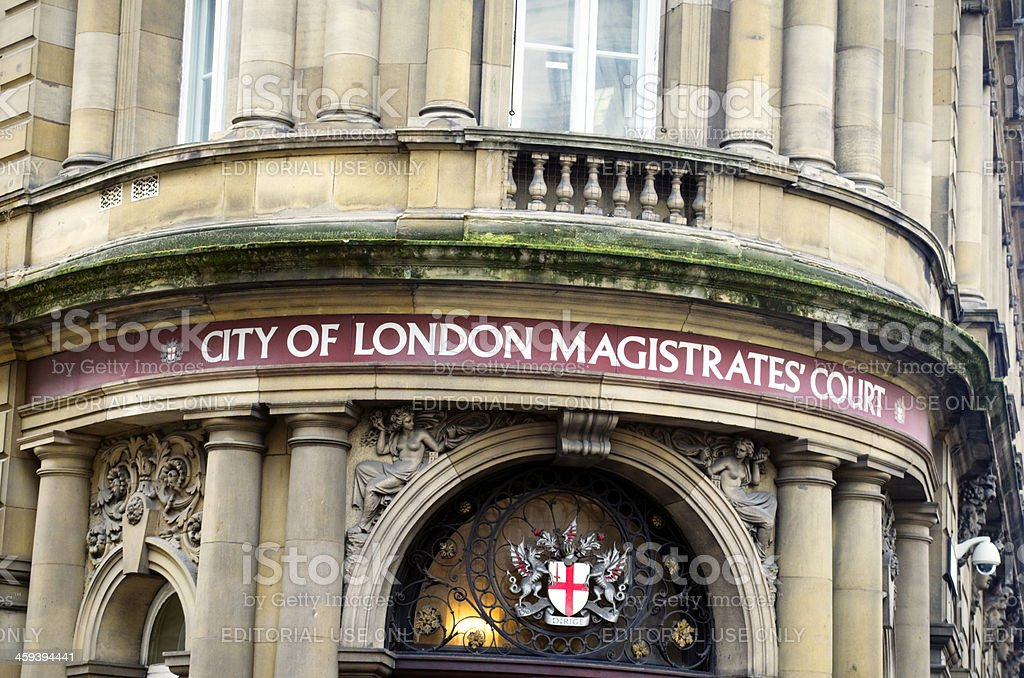 City of London Magistrates' Court stock photo