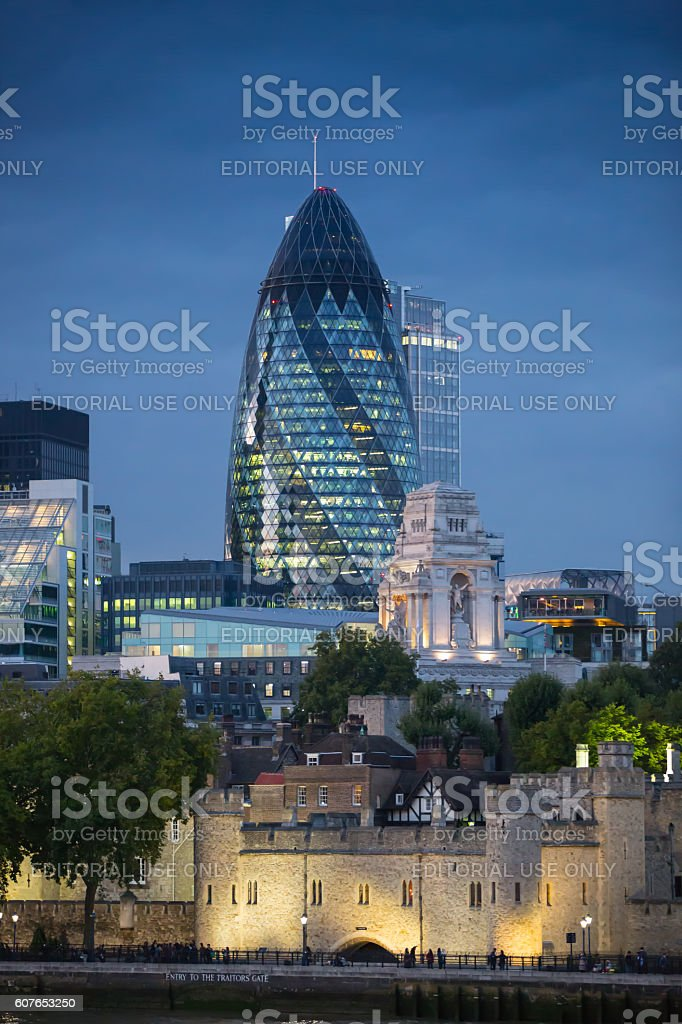 City of London, modern skyscrapers of London stock photo