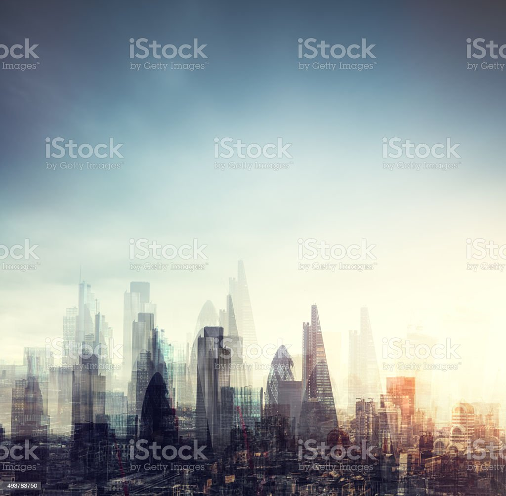 City Of London Multiple Exposure stock photo