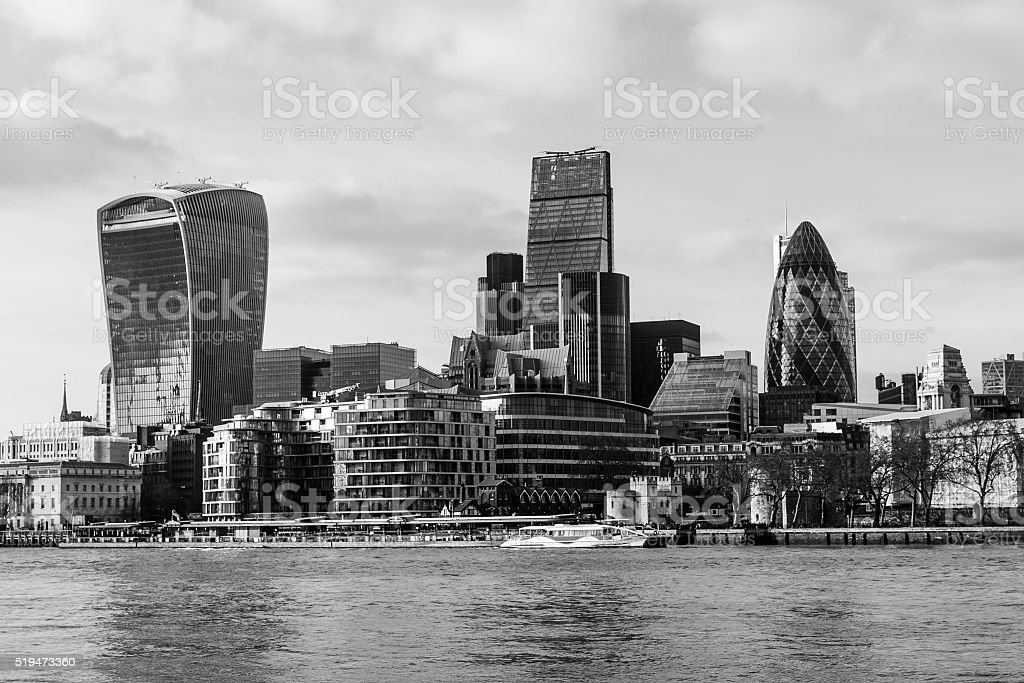 City of London office block skyline stock photo