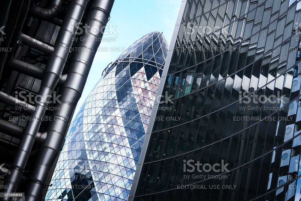 city of london office buildings royalty-free stock photo