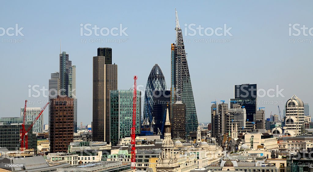 City of London one of the leading centres of global finance stock photo