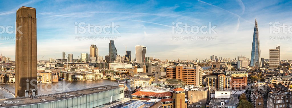 City of London panorama skyline stock photo