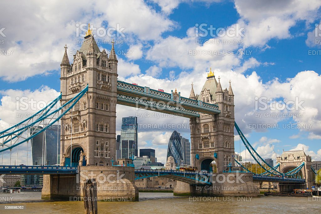 City of London panorama with modern skyscrapers. stock photo