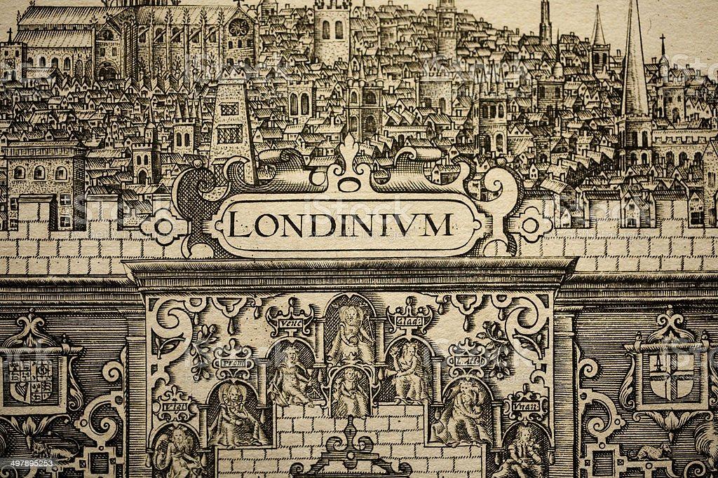 City of London Pen & ink illustration (C1604) stock photo