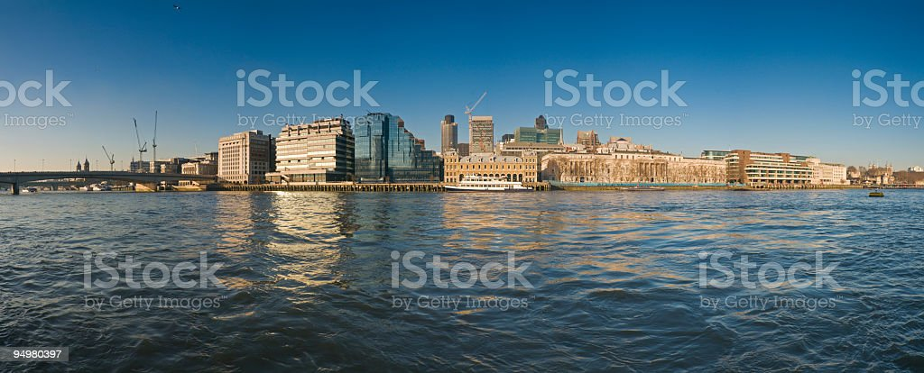 City of London reflected stock photo