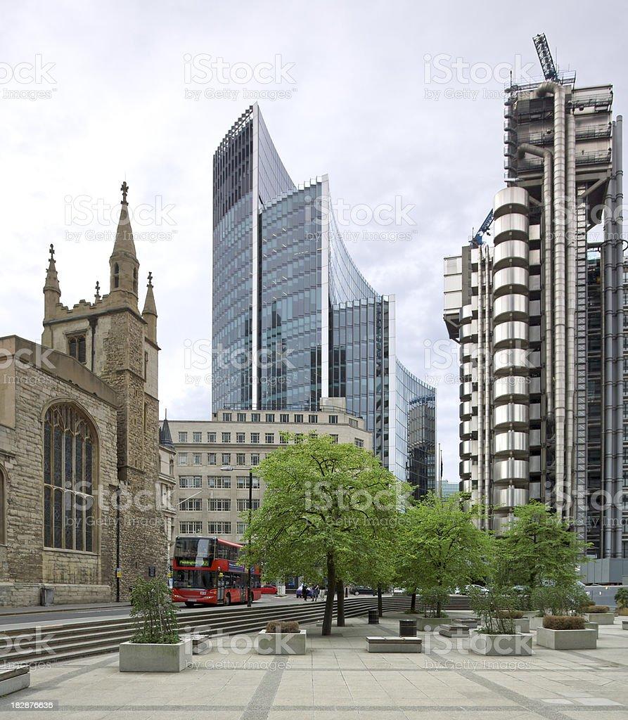 City of London scene royalty-free stock photo