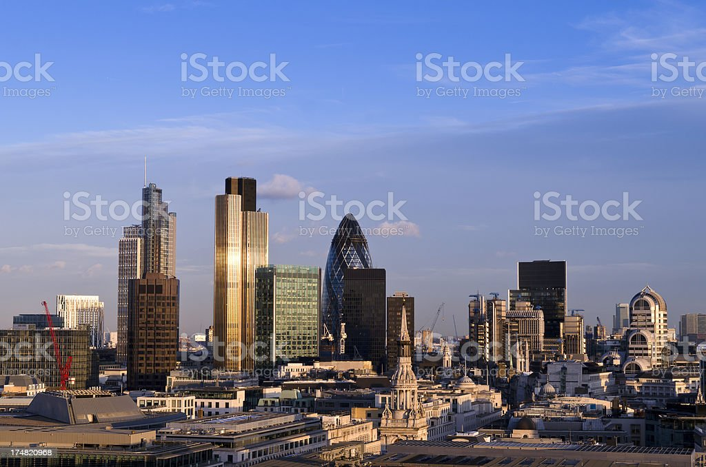 City of London skyscrapers royalty-free stock photo