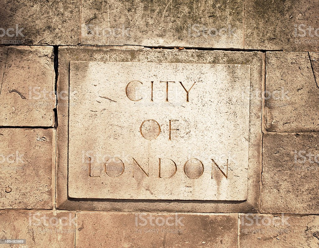 City of London Stone Carving stock photo