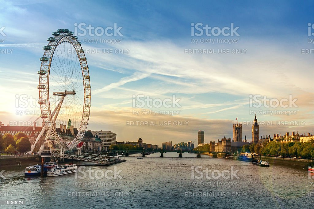 City of London sunrise stock photo