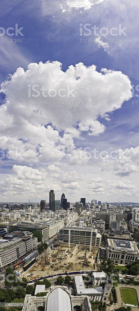 City of London vertical vista royalty-free stock photo