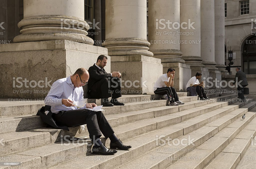 City of London workers royalty-free stock photo