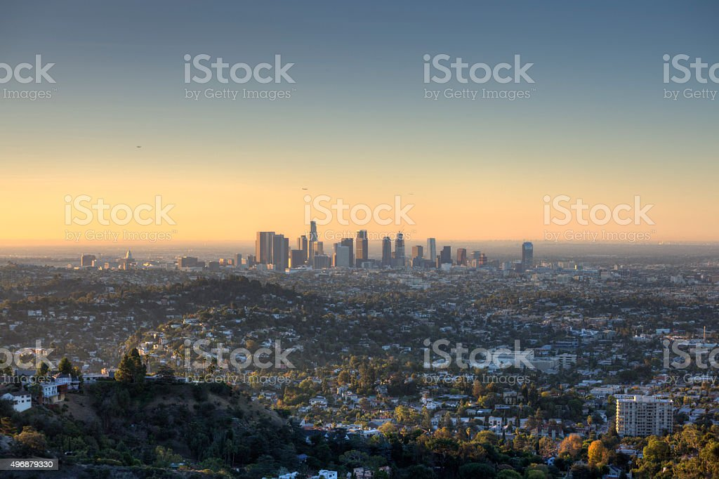 City of Los Angeles at Dawn stock photo
