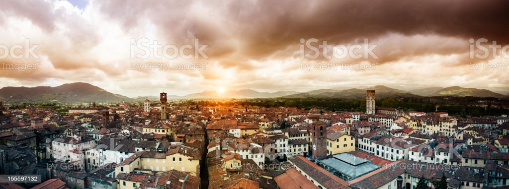 City of Lucca, Tuscany. stock photo