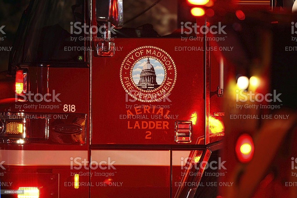 City of Madison Fire Department royalty-free stock photo
