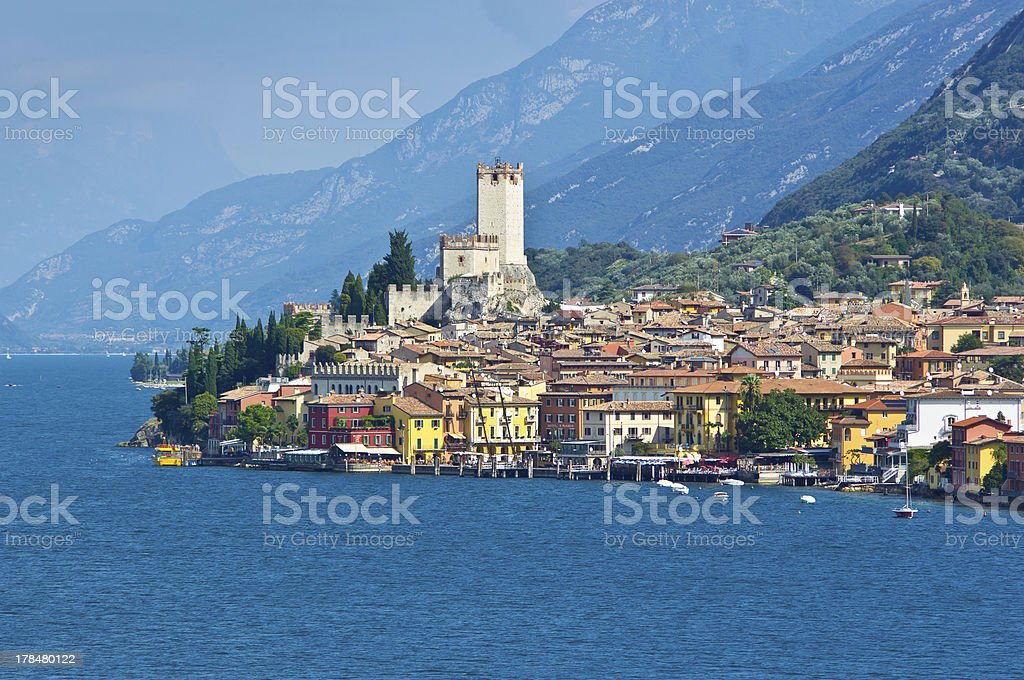 City of Malcesine stock photo