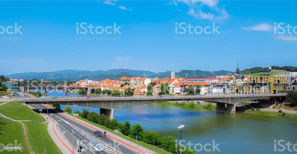 City of Maribor stock photo