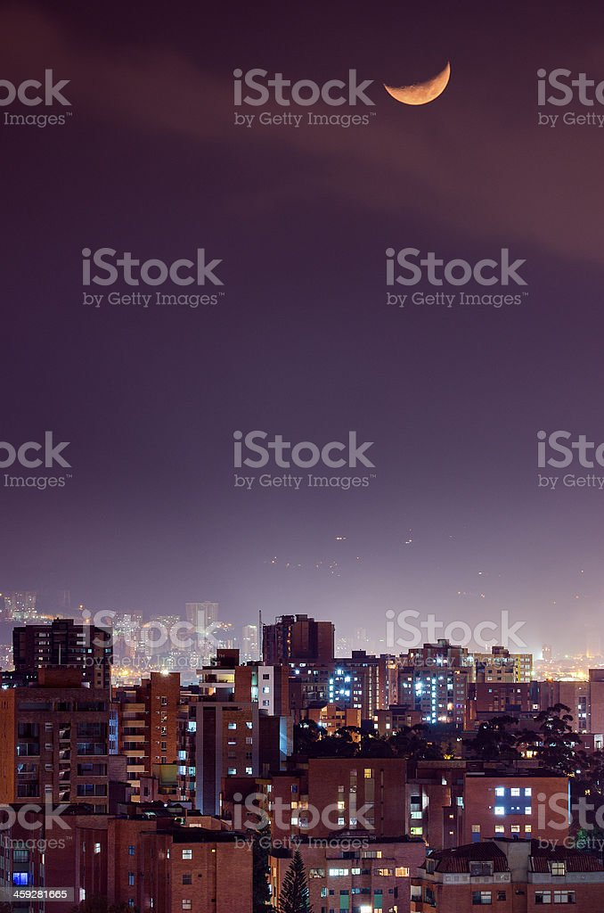 City of Medellin stock photo