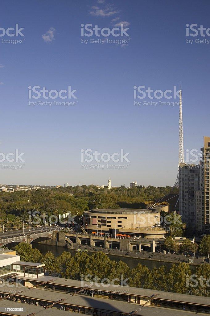 City of Melbourne and Yarra River Victoria Australia stock photo
