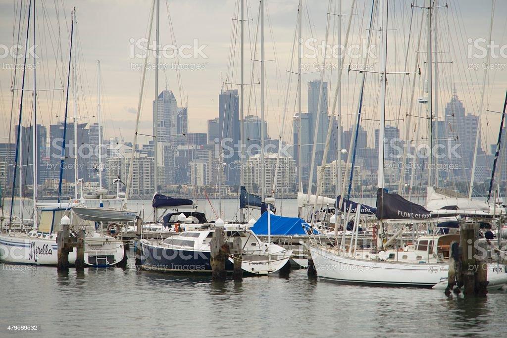 City of Melbourne, Australia, skyline stock photo
