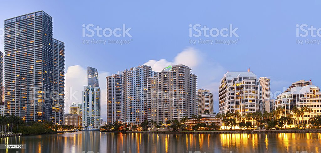 City of Miami Florida, downtown office buildings stock photo