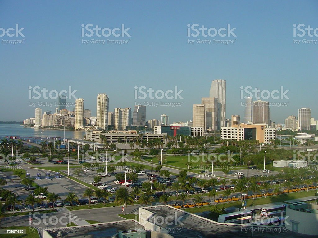 City of Miami royalty-free stock photo