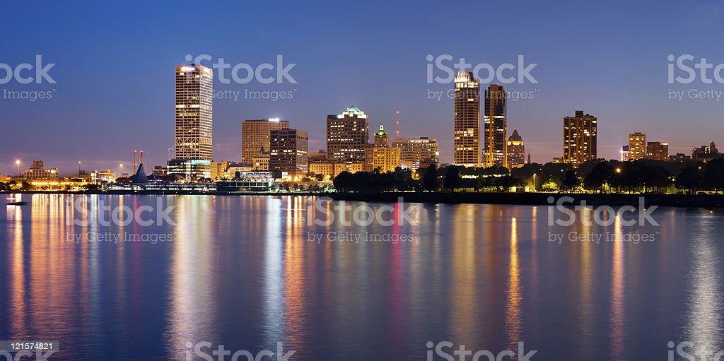 City of Milwaukee skyline. stock photo