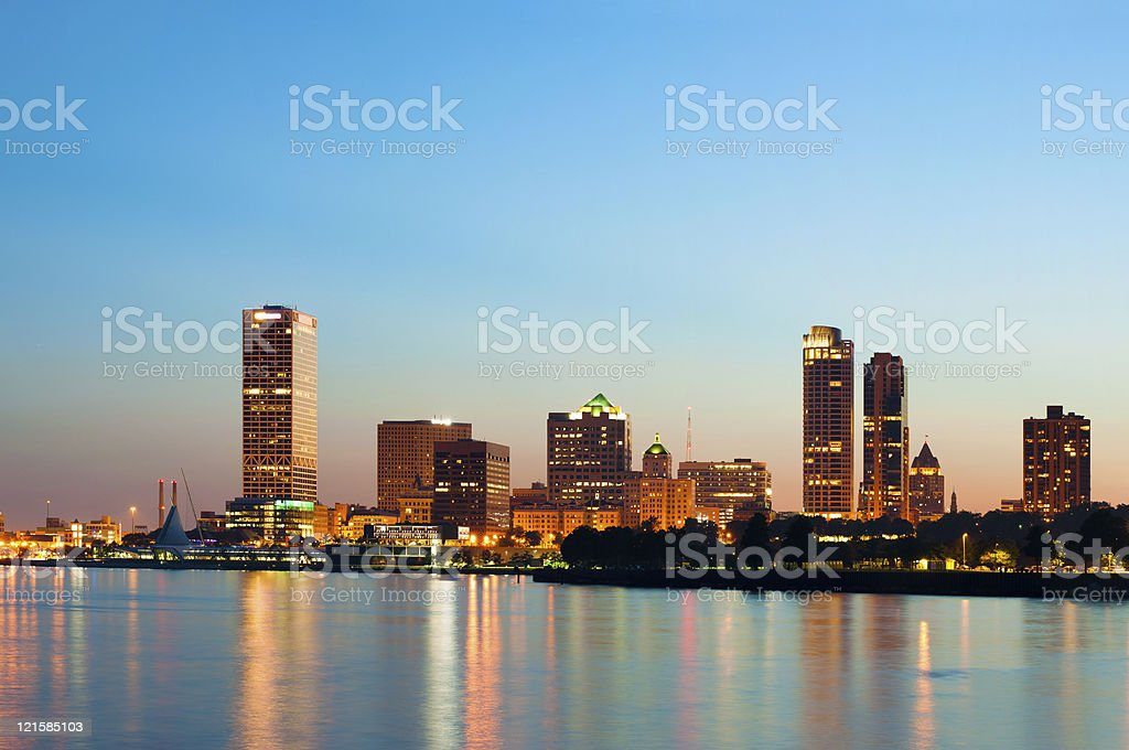 City of Milwaukee skyline. stock photo