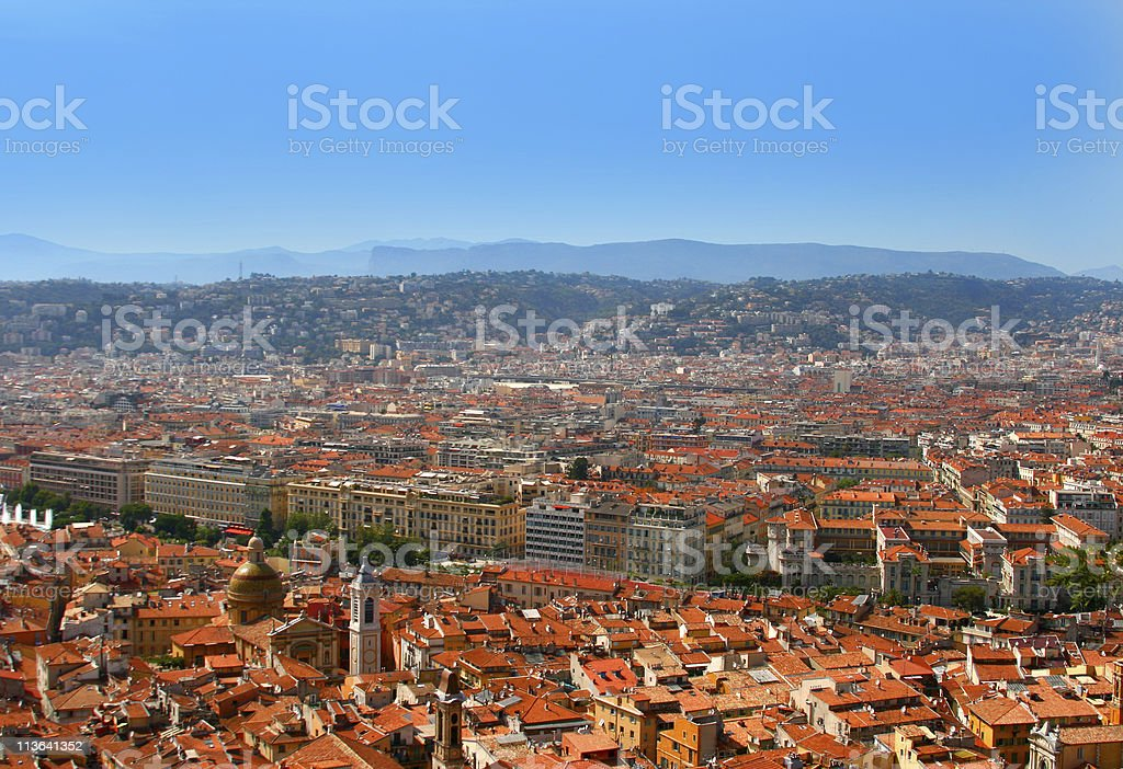 City of Nice, France. Summer classic view. stock photo