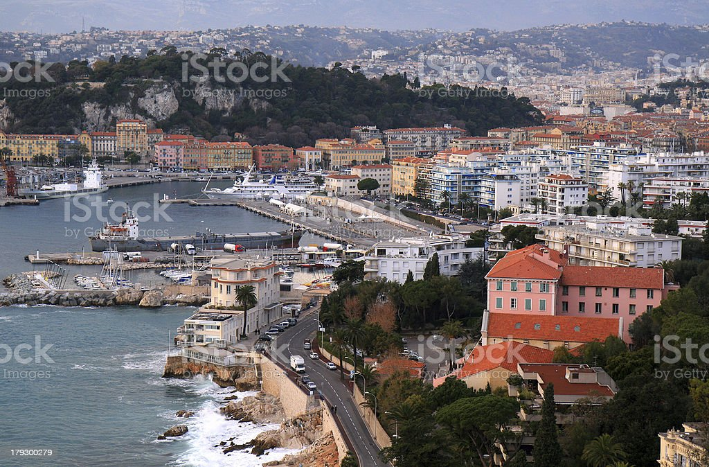 City of Nice in French Riviera royalty-free stock photo