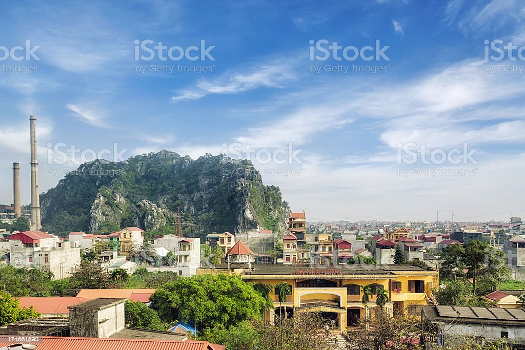 City of Ninh Binh royalty-free stock photo