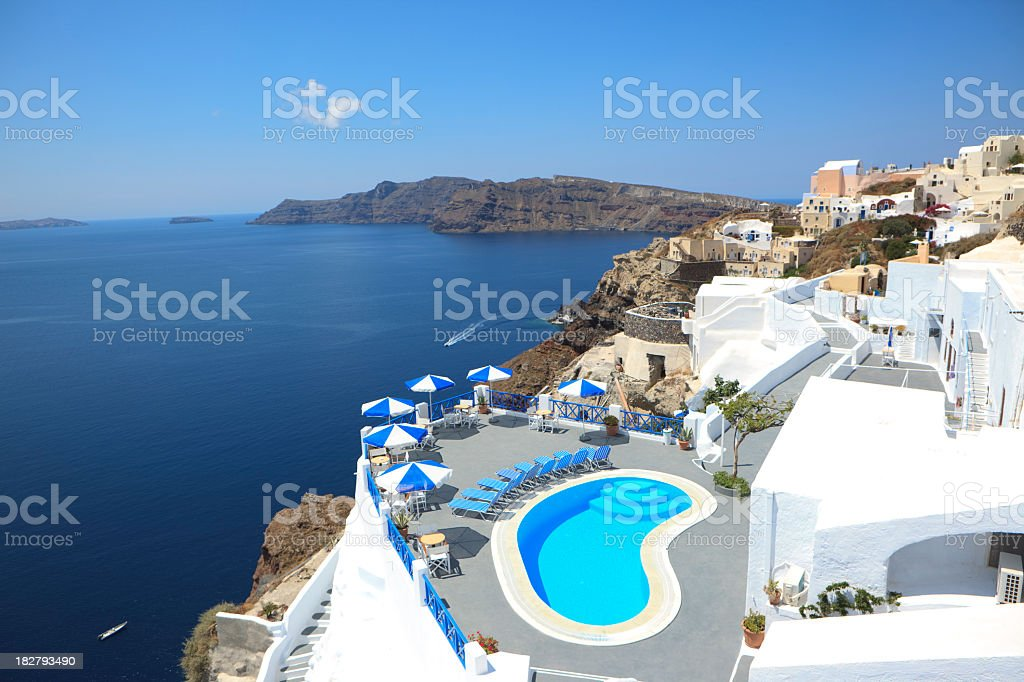 City of Oia, Santorini royalty-free stock photo