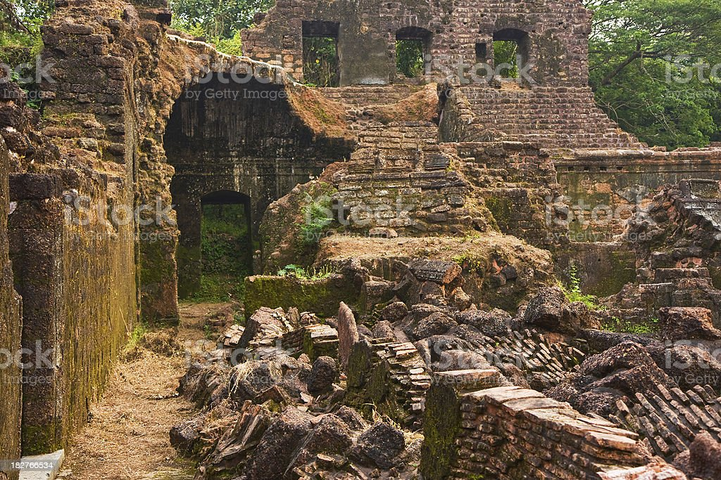 City of Old Goa ruins royalty-free stock photo